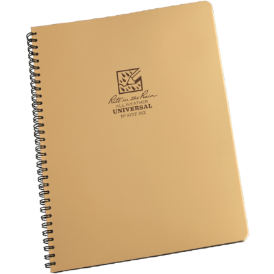"RITR Maxi Spiral Notebook - 8 1/2"" x 11"" - Tan"