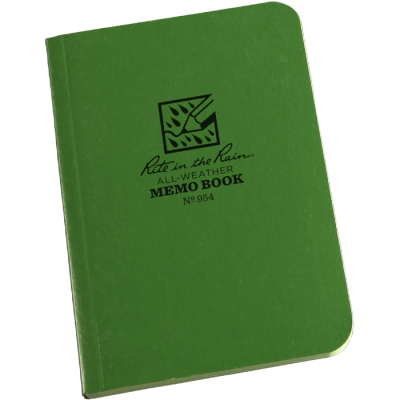 "RITR Tactical Memo Book - 3.5"" x 5"" - Olive"