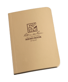 "RITR Tactical Memo Book - 3.5"" x 5"" - Tan"