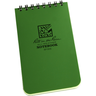 "RITR Tactical Pocket Notebook - 3"" x 5"" - Olive"