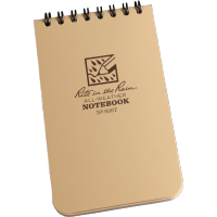 "RITR Tactical Pocket Notebook - 3"" x 5"" - Tan"