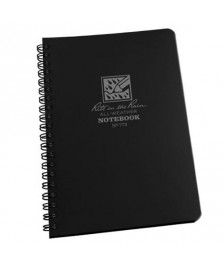 "RITR Side-Spiral Notebook - 4 5/8"" x 7"" - Black"