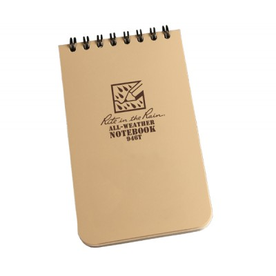 "RITR Tactical Pocket Notebook - 4"" x 6"" - Tan"