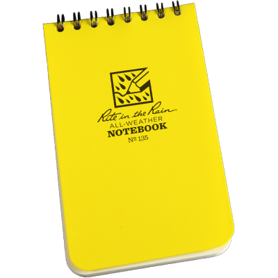 "RITR Waterproof Pocket Notebook - 3"" x 5"""