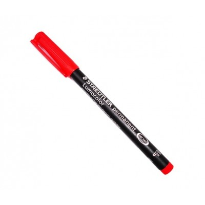 Lumocolor Permanent Marker Pen Red